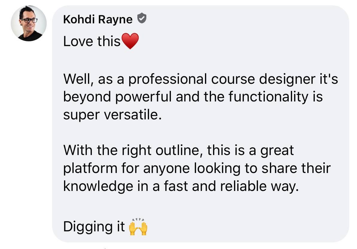 Kohdi R Course Commander Feedback